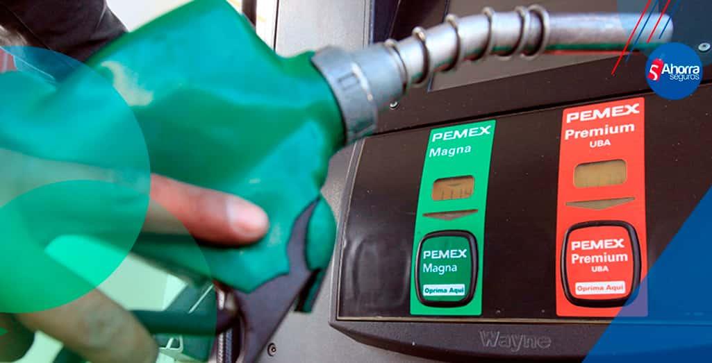 precios de las gasolinas Abril