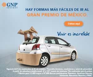 GNP te lleva al gran premio de México, Formula 1